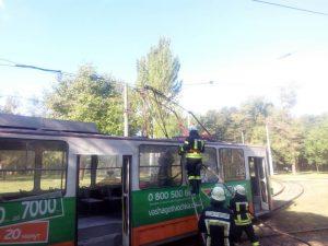 У Запоріжжі горів уже другий трамвай за тиждень (фото)