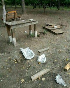 У Запорізькій області кінологічний майданчик не пережив зустріч з вандалами (фото)