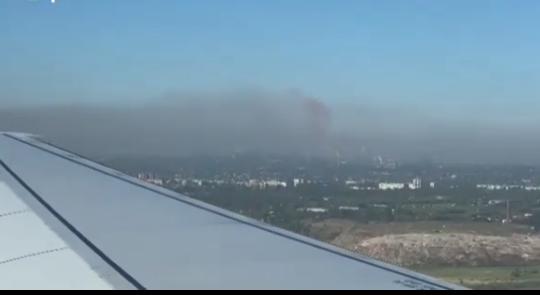 «Страшное видео»:  с высоты птичьего полета засняли дымящее Запорожье