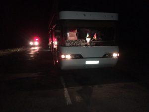 У Запорізькій області автобус збив пішохода: на постраждалого склали адмінпротокол