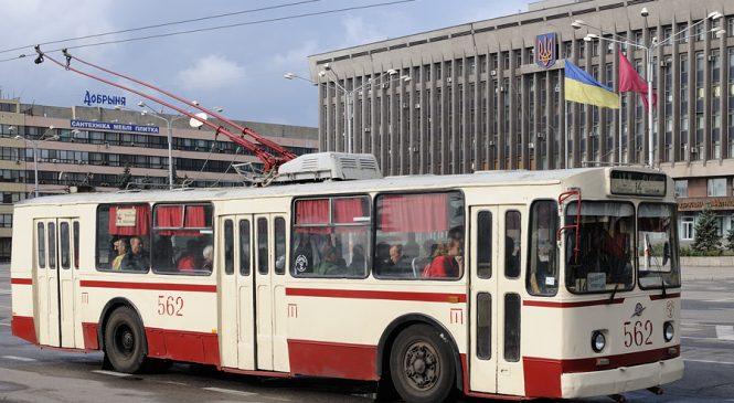 В Запорожье более чем на неделю прекращается работа одного из троллейбусов