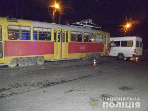 ДТП в Запорожье с трамваем и маршруткой: пострадали 9 человек (Фото)
