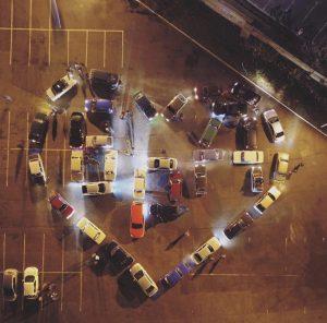 Фотофакт: автомобилисты из Запорожской области выложили из машин символ города