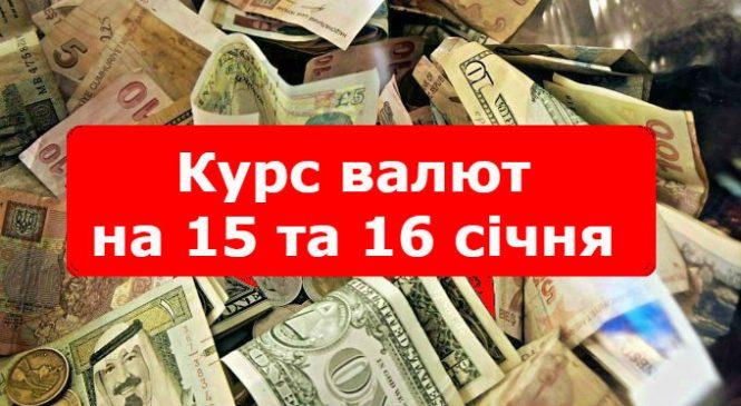Курс валют на 15 та 16 січня: долар та євро суттєво подешевшали