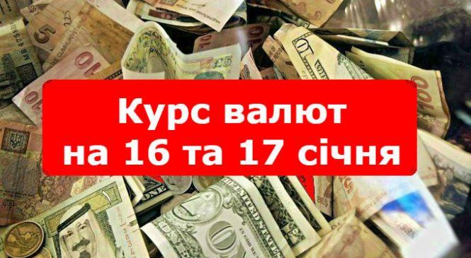 Курс валют на 16 та 17 січня: гривня дещо втрачає позиції