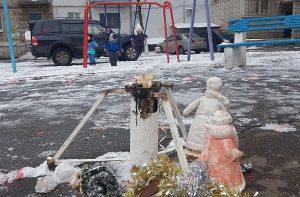 У Запорізькій області невідомі викрали 3-метрову прикрашену ялинку (фото)
