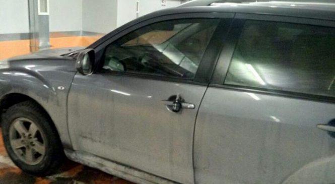 Неудачная шутка: жителю Запорожья оставили на двери автомобиля учебную гранату (фото)