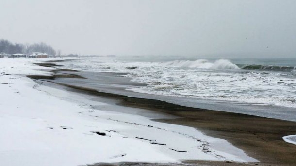У Запорізькій області замерзає море (відео)