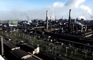 «Как декорации для романа «1984»: в сети появилось видео промзоны Запорожья с высоты птичьего полета