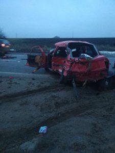 ДТП на запорожской трассе: водитель и пассажир погибли (Фото)