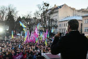 Останній візит перед виборами: 25 тисяч львів'ян відвідали віче Петра Порошенка