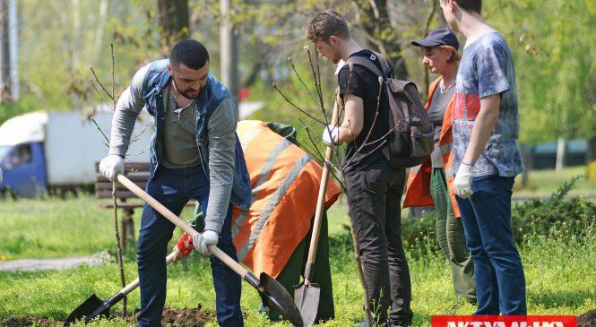 Запорожская бизнес-школа Investment Business School провела экологическую акцию в Бородинском микрорайоне (ФОТОРЕПОРТАЖ)
