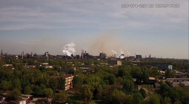 Над промзоной Запорожья — снова «облака» выбросов (ФОТО, ВИДЕО)